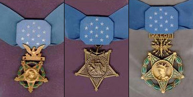 Army, Navy and Air Force medals